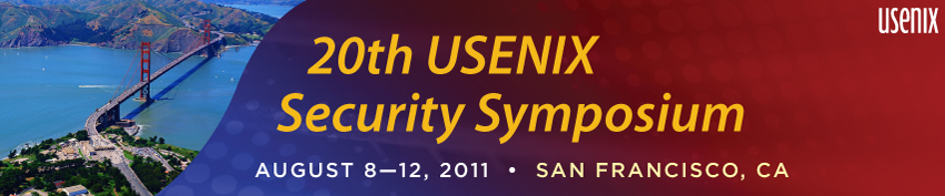 USENIX Security '11 Banner